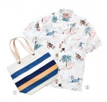 〈5階インフォメーション〉〈shimaai〉藍染トートバッグ/〈REHEARSAL〉メンズシャツ