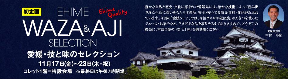 【初企画】愛媛・技と味のセレクション 11月17日(金)~23日(木・祝)  ■1階=特設会場  ※最終日は午後7時閉場。