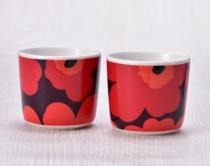 〈マリメッコ〉X'mas 限定カラー ウニッコ コーヒーカップセット